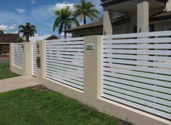 white aluminum fence ideas 8