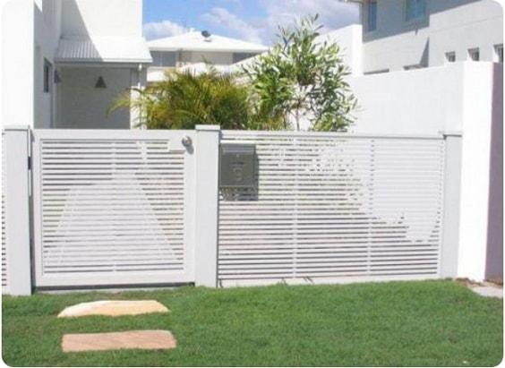 white aluminum fence ideas 9