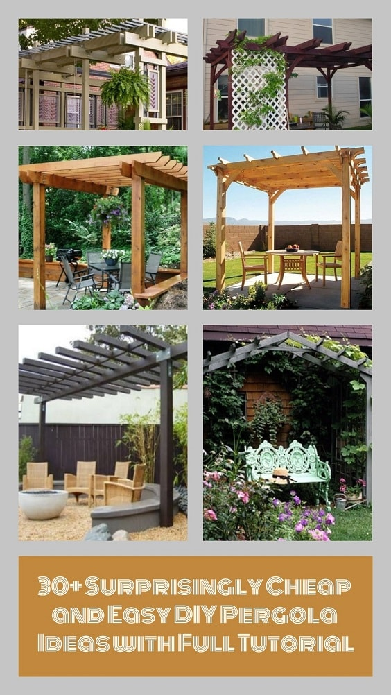 DIY Pergola Ideas pinterest-min