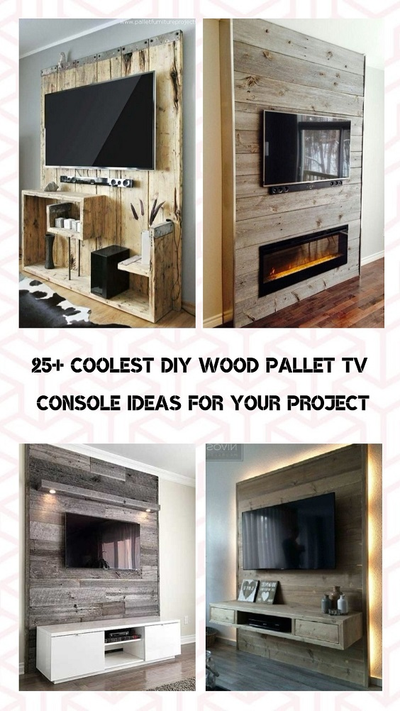 DIY Wood Pallet TV Console pinterest