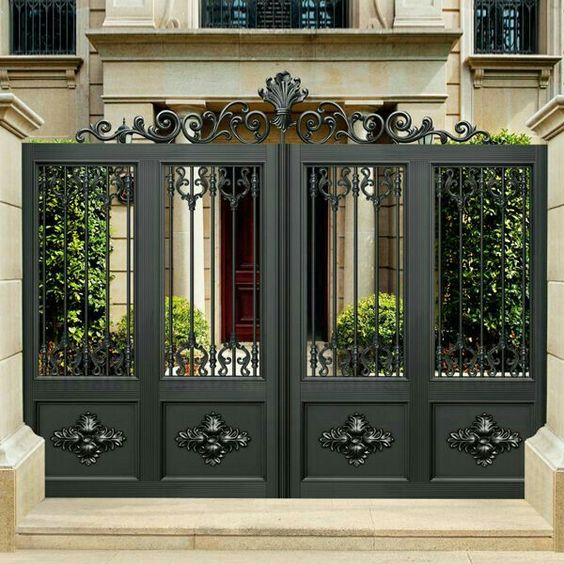 Home Design Gate Ideas: 25+ Fantastic Wrought Iron Driveway Gate Design Ideas