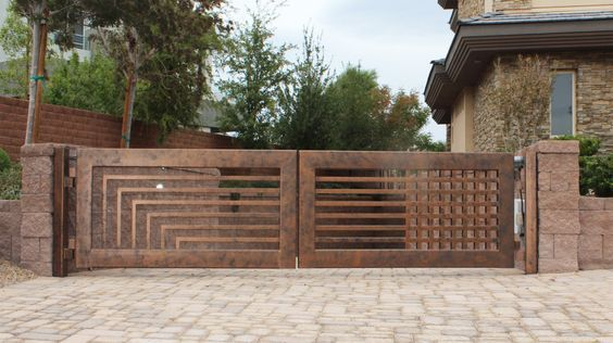 Wrought Iron Driveway Gate Design Ideas 3-min