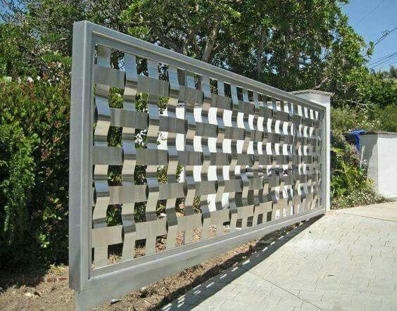 Wrought Iron Driveway Gate Design Ideas 7-min