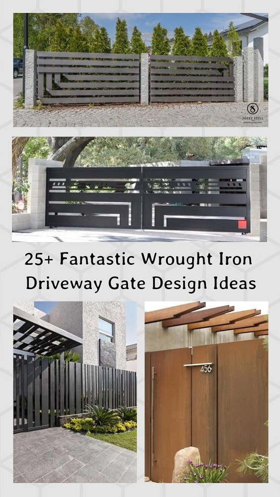 Wrought Iron Driveway Gate Design Ideas pinterest-min