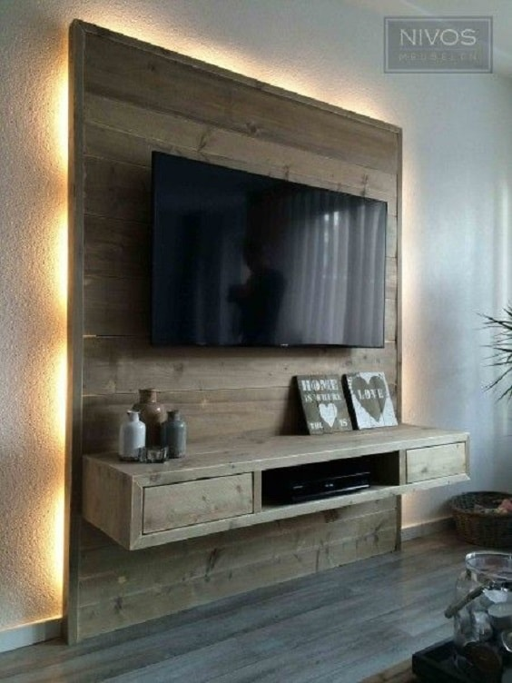 diy wood pallet tv console 2-min