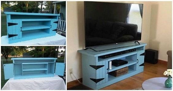 diy wood pallet tv console 22-min