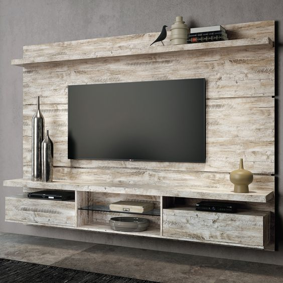 diy wood pallet tv console 3-min