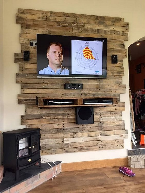 diy wood pallet tv console 6-min