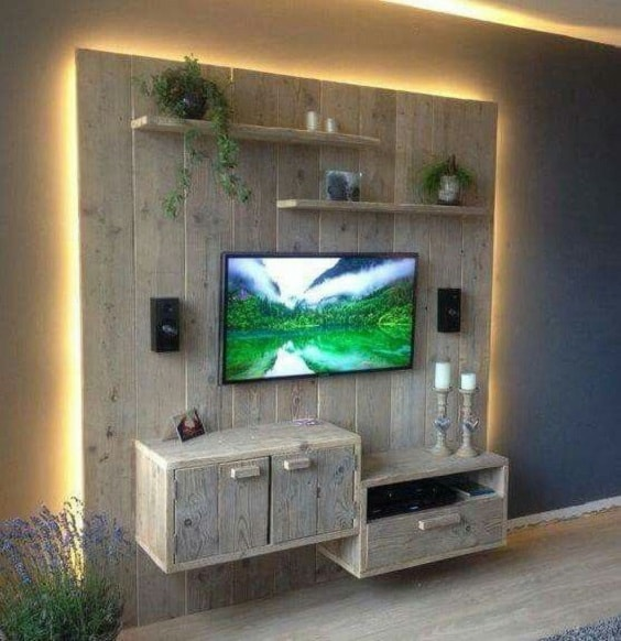diy wood pallet tv console 7-min