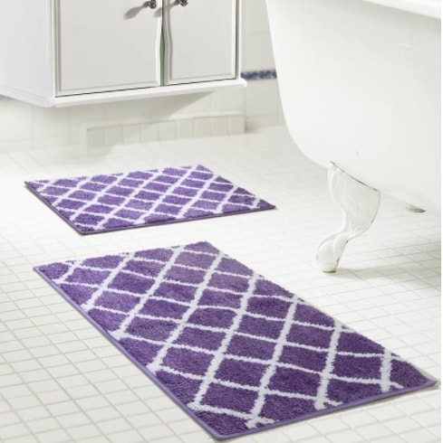 15 Recommended Purple Bathroom Rug Sets