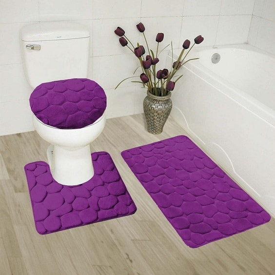 15 Recommended Purple Bathroom Rug Sets To Buy
