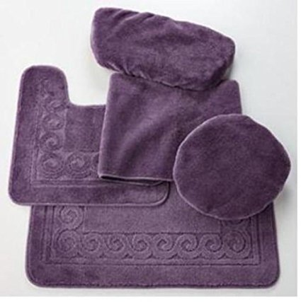 purple bathroom rug sets 8-min