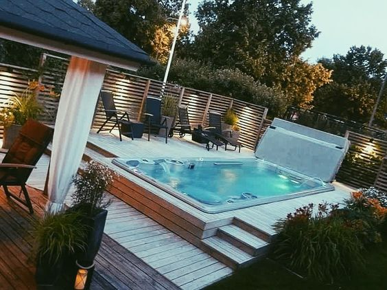 Wonderful Pool Finish Ideas For You To Copy: 25+ Stunningly Awesome Swim Spa Installation Ideas For