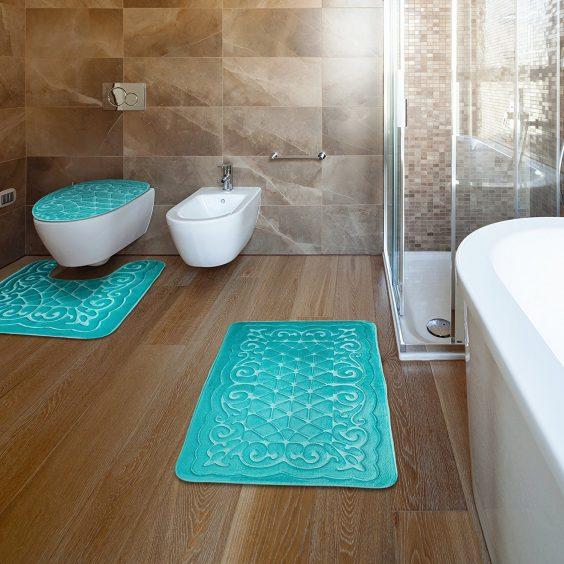 teal bathroom rugs 12-min