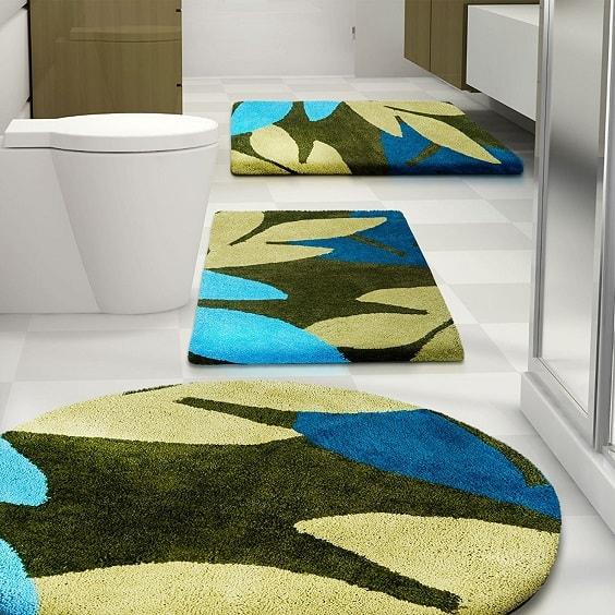 teal bathroom rugs 15-min