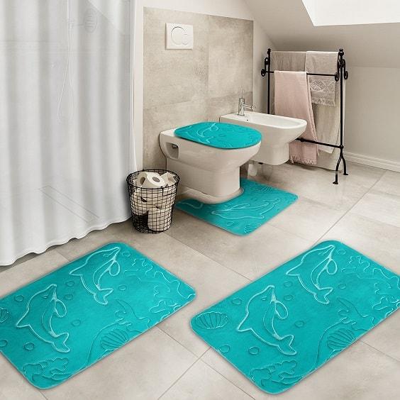 teal bathroom rugs 18-min