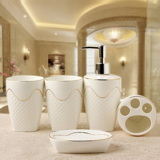 white and gold bathroom accessories 13-min