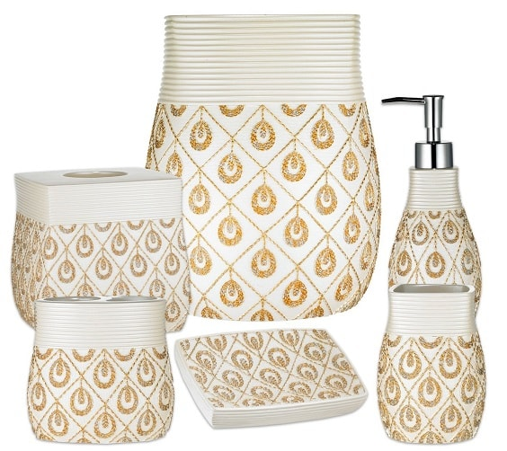 white and gold bathroom accessories 14-min