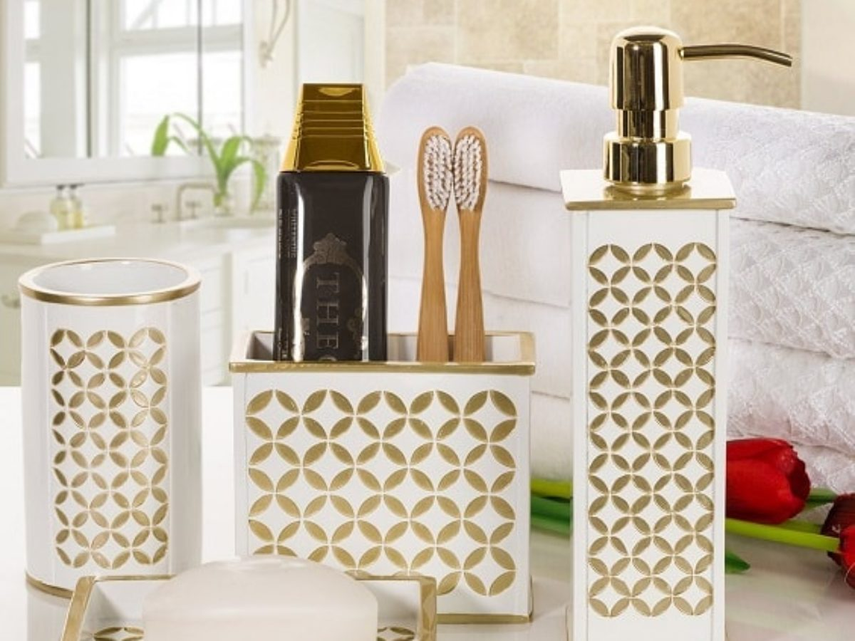 20 Best Amazon S White And Gold Bathroom Accessories To Buy