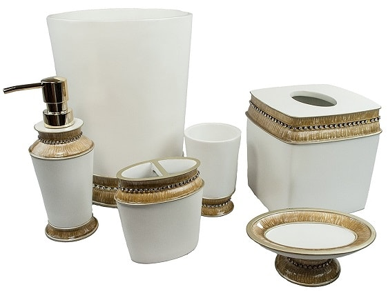 white and gold bathroom accessories 7-min