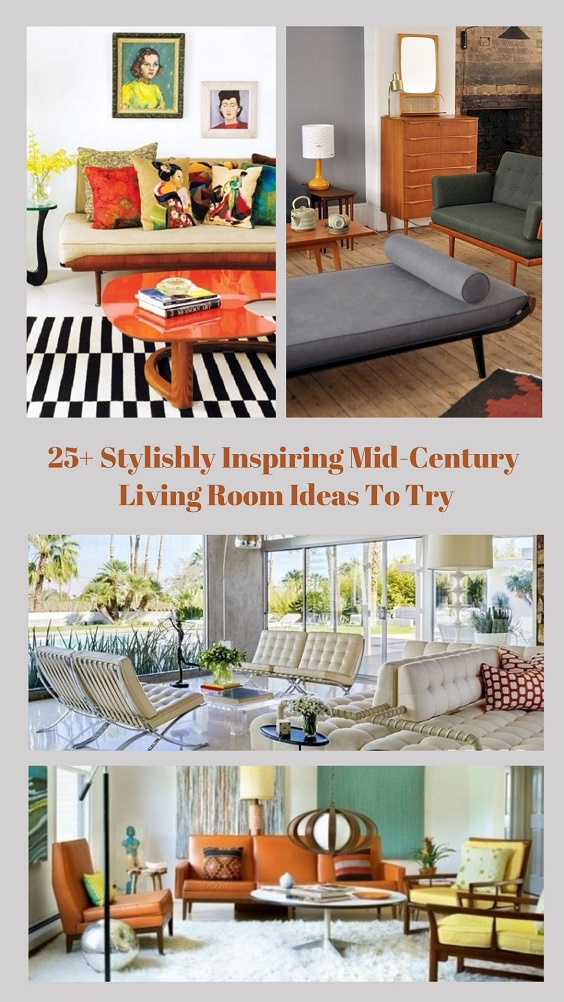 Mid-Century Living Room pinterest