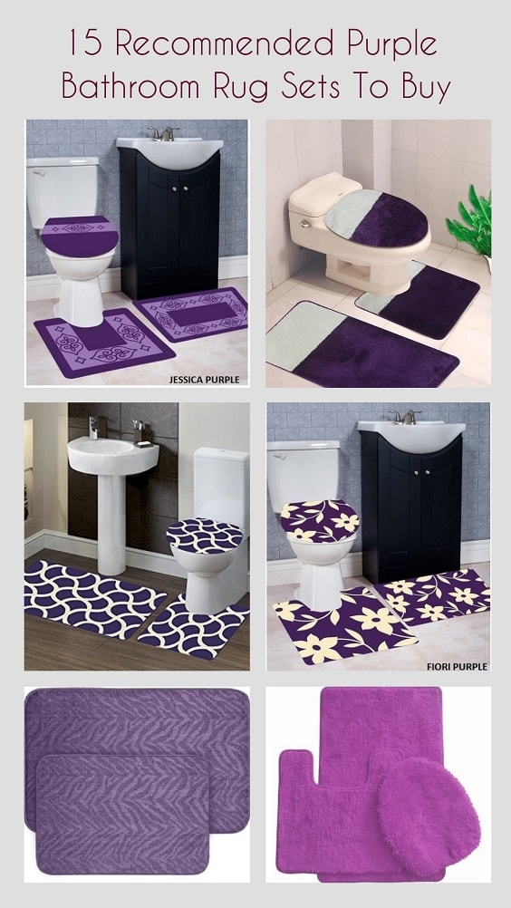Purple Bathroom Rug Sets pinterest-min