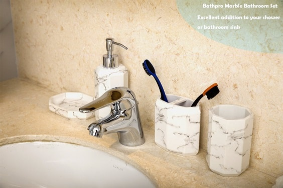 White Marble Bathroom Accessories 1-min