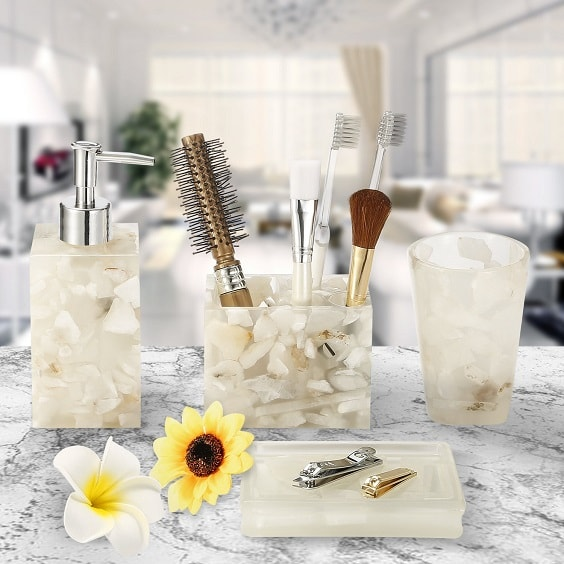 White Marble Bathroom Accessories 2-min