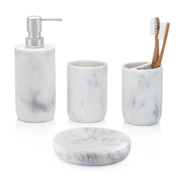 White Marble Bathroom Accessories 3-min