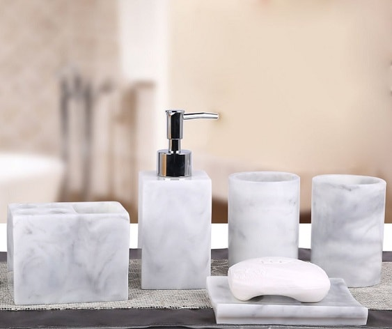 White Marble Bathroom Accessories 4-min