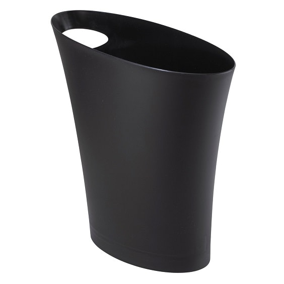 black bathroom trash can 1-min