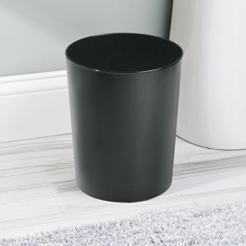 black bathroom trash can 10-min