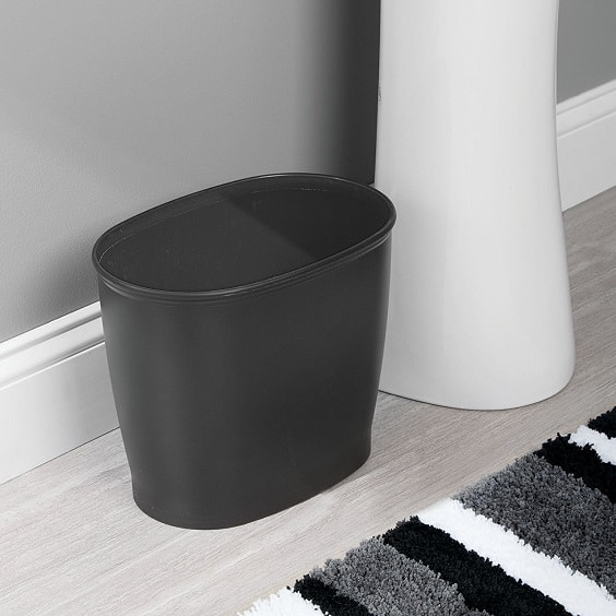 black bathroom trash can 11-min