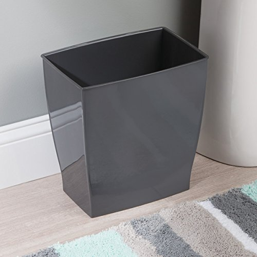 black bathroom trash can 16