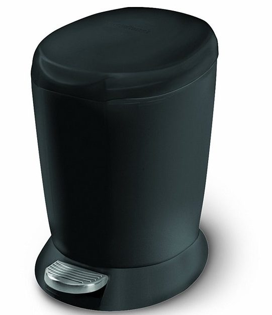 black bathroom trash can 2-min