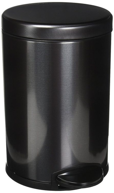 black bathroom trash can 3-min