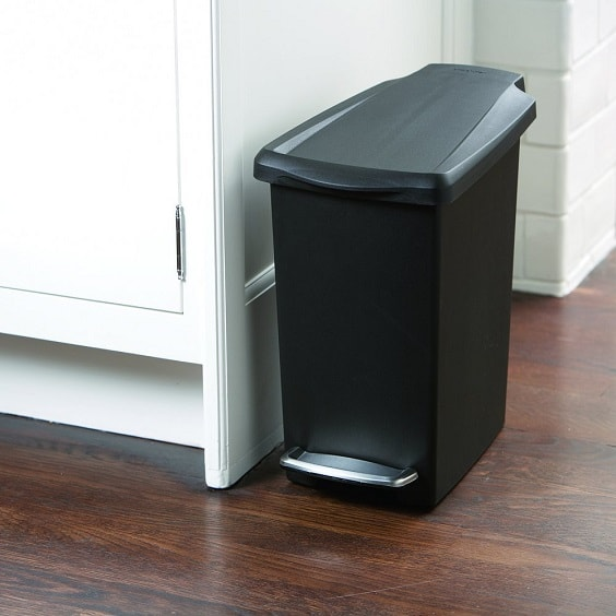 black bathroom trash can 6-min