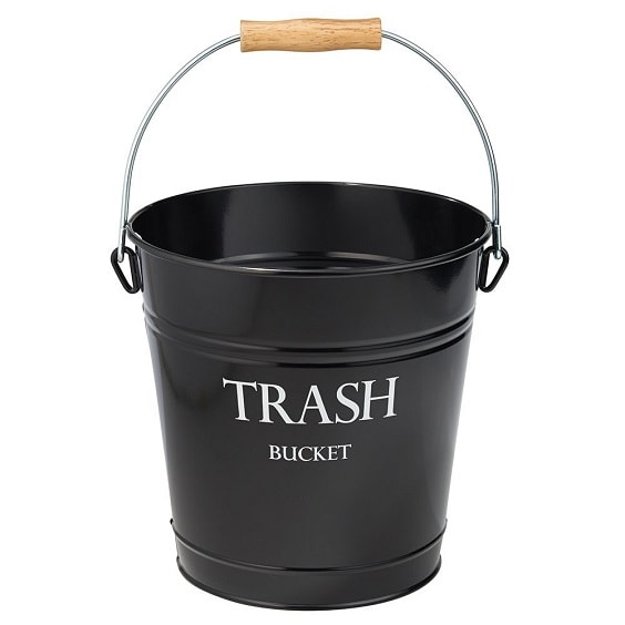 black bathroom trash can 7-min