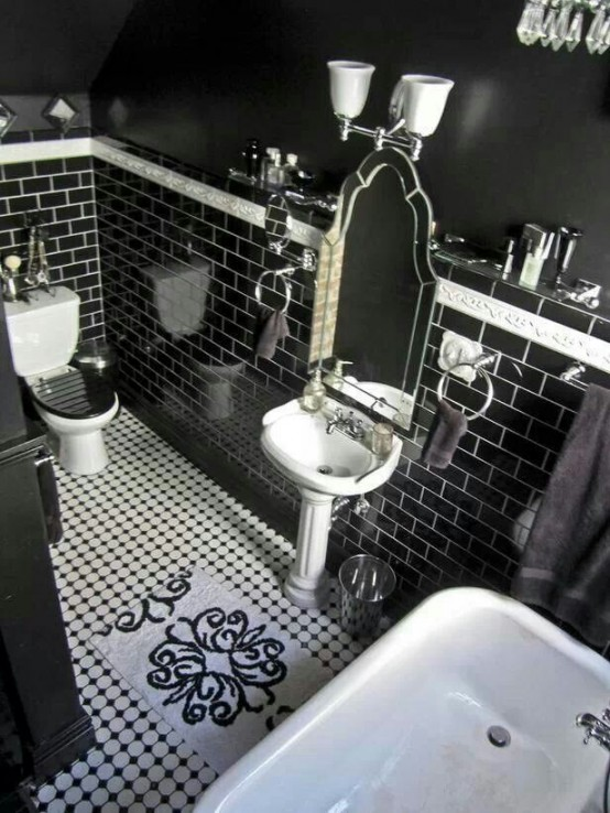 gothic bathroom decor 14-min