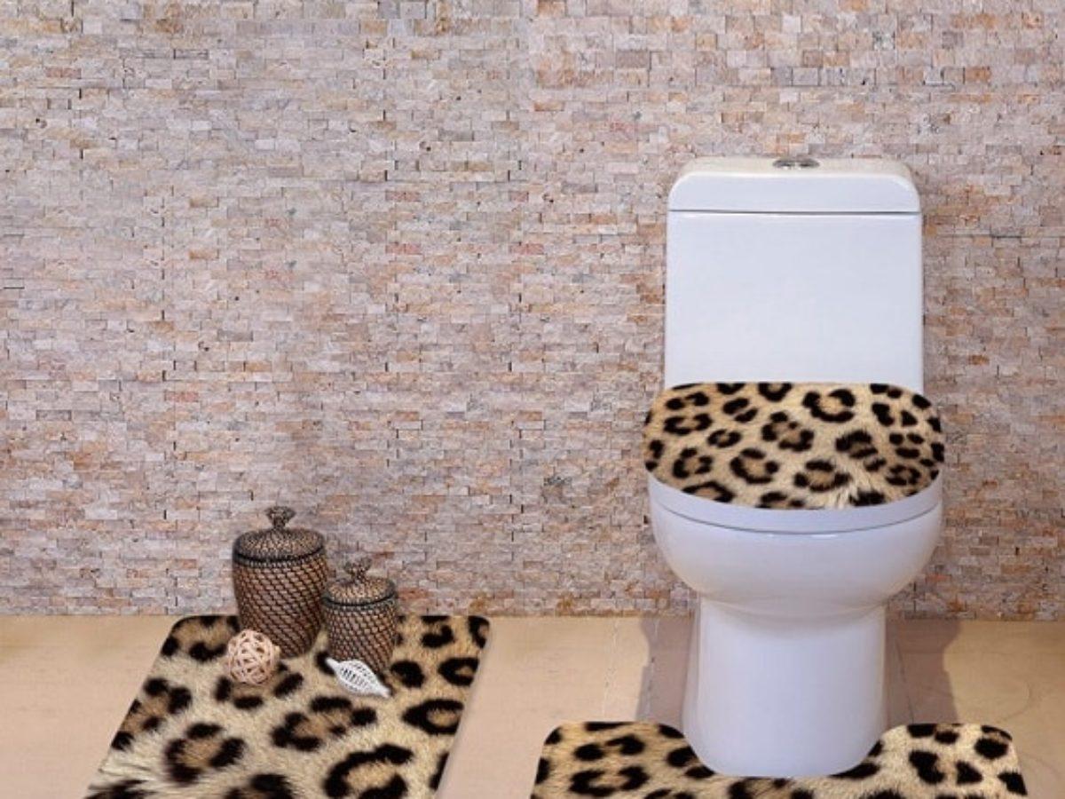 Best Leopard Bathroom Accessories, Animal Print Bathroom Rugs