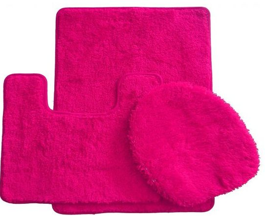pink bathroom rugs 12-min