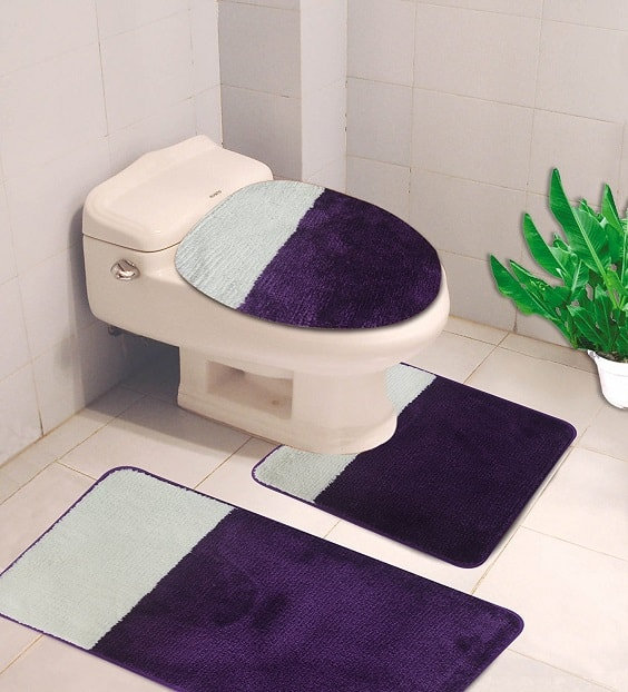 purple bathroom rug sets 14-min