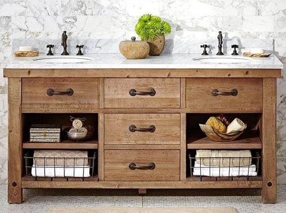 weathered wood bathroom vanity ideas 1-min