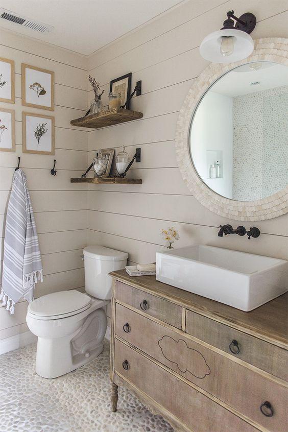weathered wood bathroom vanity ideas 11-min