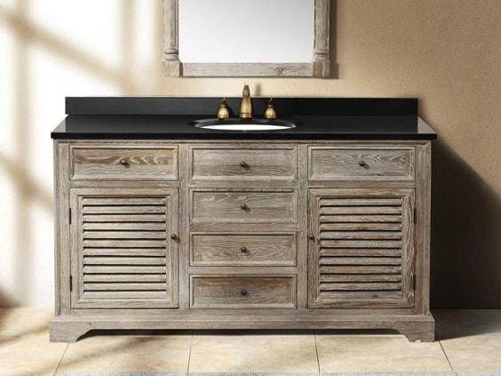 weathered wood bathroom vanity ideas 13-min