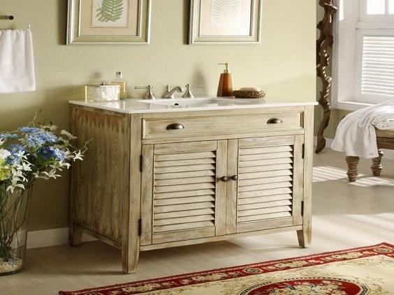 weathered wood bathroom vanity ideas 14-min