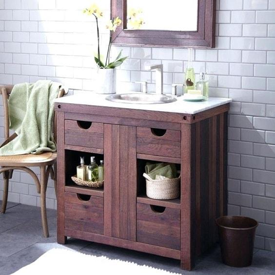 weathered wood bathroom vanity ideas 15-min