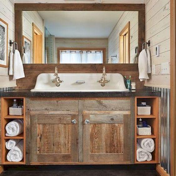 weathered wood bathroom vanity ideas 17-min