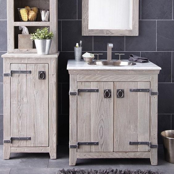 weathered wood bathroom vanity ideas 2-min