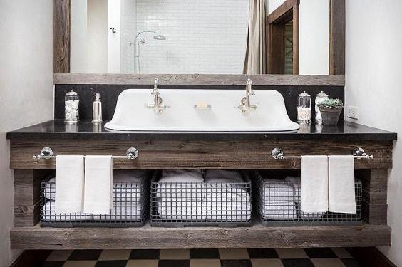 weathered wood bathroom vanity ideas 21-min